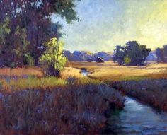 """""""Sunshine and Shade"""" by Richard Johnson, Oil on Canvas, 24"""" x 30"""""""