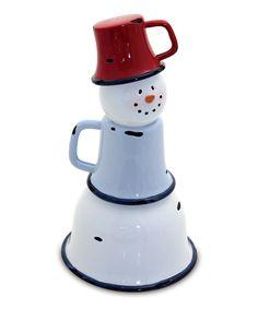 *SNOWMAN ~ Enamel Snowman.....adorable!
