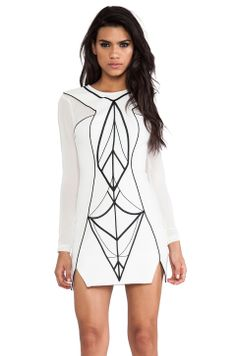 bless'ed are the meek Archangel Dress in Ivory & Black from REVOLVEclothing