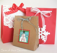 Gift Bags from Old Envelopes | sumoftheirstories.blogspot.co.uk | #recycling #christmas