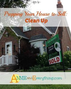 What to pay attention to when cleaning your house to prepare it for sale -- especially what to clean up before a showing. Includes printable checklist.