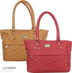 Checkout this latest Handbags Product Name: *Elite Fancy Women Handbags* Material: PU No. of Compartments: 2 Pattern: Self Design Type: Handbag Set Multipack: 2 Sizes:Free Size (Length Size: 12 in, Width Size: 2 in, Height Size: 10 in)  Country of Origin: India Easy Returns Available In Case Of Any Issue   Catalog Rating: ★4 (291)  Catalog Name: Gorgeous Attractive Women Handbags CatalogID_2214039 C73-SC1073 Code: 274-11708676-6141