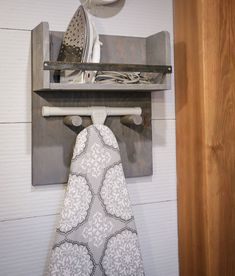 Iron Board Holder (Ana White) Here's a beautiful and accessible way to store your iron and ironing board. This simple to build iron board holder is a very easy DIY project that is guaranteed to up the form and function in your lau Laundry Room Organization, Laundry Room Design, Organized Laundry Rooms, Laundry Room With Sink, Small Laundry Rooms, Makeup Organization, Laundry Room Inspiration, Laundry Room Remodel, Iron Board