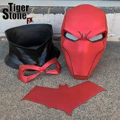 Red Hood helmet bundle in Matte Hot Metallic Red w neck piece