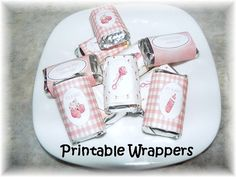 Printable Baby Girl mini hershey candy wrappers-great shower favors!