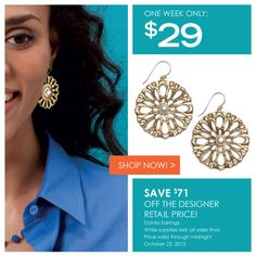 """$29.00 The flirtatious fusion of bronze with white pearls make these flowers fabulous. (1 1/2"""" long) All sales final, while supplies last. Shop24/7 http://donnaaquilino.jewelry.willowhouse.com"""