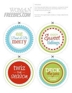 halloween jar circular label | Free Printable Candy Jar Labels