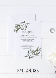 Hey lovely! If you are looking for beautiful wedding invitations to compliment your special day, then this Eucalyptus Wedding Invitation Template is bound to put a big smile on your dial! Super easy to edit, download and print Em Louise Stationery templates don't sacrifice quality for price because EVERYONE deserves beautiful wedding stationery, no matter the budget! #weddinginvitationtemplate #DIYwedding #weddinginvitation #weddingstationery #DIYwedding