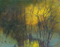 Mednyánszky László - Night - by Virag Judit Gallery Love Art, Art World, Impressionism, Auction, Night, Gallery, Artist, Baron, Landscapes