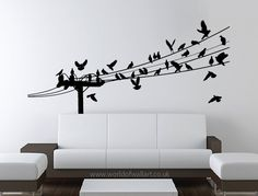 World Of Wall Art - Birds On A Wire wall art sticker, £9.99 (http://www.worldofwallart.co.uk/birds-on-a-wire-wall-art-sticker/)