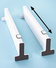 This Set of 2 Snap-Fit Drawer Dividers helps organize drawers so you can quickly and easily find what you need. Separates socks from undergarments in your dresser drawer, or sorts utensils in your kitchen drawer. Kitchen Drawer Inserts, Kitchen Drawers, Dresser Drawers, Drawer Dividers, Drawer Organisers, Home Gadgets, Kitchen Gadgets, Cooking Gadgets, Cooking Tools