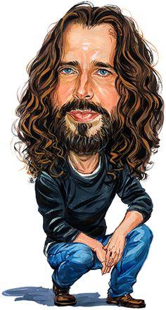 Chris Cornell ( Soundgarden ) ....artwork by www.ExaggerArt.com