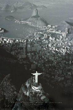 Rio De Janeiro (B&W) (24x36) - BAW00024