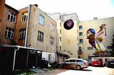 סדרת תמונות מדהימה של ציורי קיר ואמנות רחוב במימדי ענק על קירות בניינים. קליק לצפייה