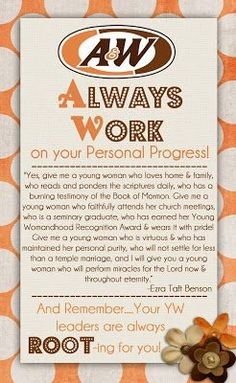PERSONAL PROGRESS NIGHT: 8 GOALS IN 1 LDS, YOUNG WOMEN, PERSONAL ...
