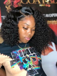 Lace Frontal Wigs Short Curly Weave Styles For Black Hair Long Curls Best Women Curly Wigs Curly Quick Weave Hairstyles Quick Weave Hairstyles, Easy Hairstyles For Medium Hair, Medium Hair Styles, Girl Hairstyles, Braided Hairstyles, Black Hairstyles, Wedding Hairstyles, Pretty Hairstyles, Kids Hairstyle