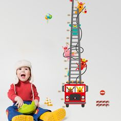 Cheap animal wallpaper, Buy Quality growth chart directly from China wall sticker Suppliers: Fire Truck Aerial Ladder Height Measurement Wall Sticker Kids Boys Room Nursery Growth Chart Wall Decal Cartoon Animal Wallpaper Wall Stickers Window, Bedroom Stickers, Cheap Wall Stickers, Flower Wall Stickers, Wall Stickers Home Decor, Home Decor Wall Art, Wall Decals, Wall Vinyl, Height Chart
