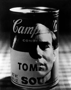 Philippe HALSMAN :: Andy Warhol's reflection on the famous Campbell's tomato soup tin / NYC, 1968