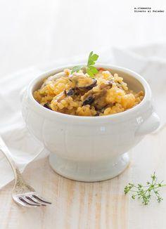 Receta de arroz cremoso con mejillones