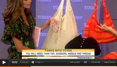 The Fun Cheap or Free Queen: Reuse your old clothes - how to turn tanks into totes!