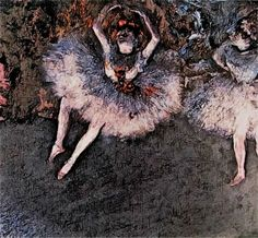 The Pas Battu - a ballet step painting by Edgar Degas, rendition Edgar Degas Artwork, Ballet Steps, The Pa, Moose Art, Painting, Animals, Animales, Animaux, Painting Art