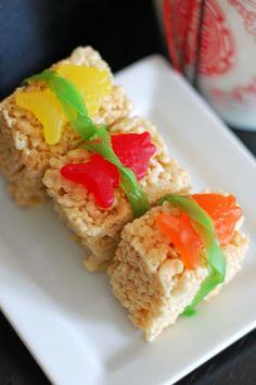 "Rice Krispies ""Sushi"" So cute!"