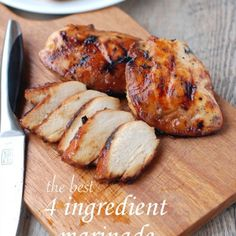 the best 4 ingredient chicken marinade – The recipe for the best chicken marinade. Only 4 ingredients! #chickenmarinade #grilledchickenmarinade #whattodowithhardbrownsugar