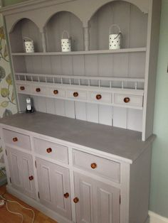 Upcycled Welsh Dresser, painted in Annie Sloan Paloma.