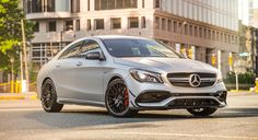 Give your eyes a treat. Admire the 2017 Mercedes-AMG CLA 45's aggressive bodywork, and sculpted lines.