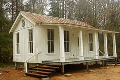 Mother in law house :) love this! Texas Tiny Houses-white guest cottage