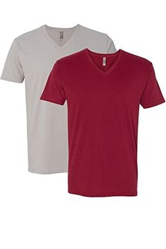 4c43996f7d2 Amazon.com  Next Level Apparel 6440 Mens Premium Fitted Sueded V-Neck Tee   Sports   Outdoors