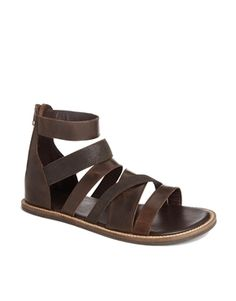 Multi-strap sandals, brown. ASOS.