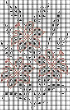 Crochet on Stylowi. Cross Stitch Borders, Cross Stitch Flowers, Cross Stitch Designs, Cross Stitching, Cross Stitch Embroidery, Cross Stitch Patterns, Crochet Cross, Crochet Chart, Thread Crochet