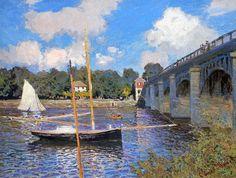 The bridge at Argenteuil by Monet,1874