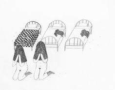 le rideau - dessins 4