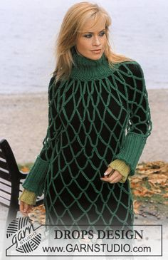 DROPS Pullover in Eskimo and Wristwarmers in Drops Ice Free pattern by DROPS Design.