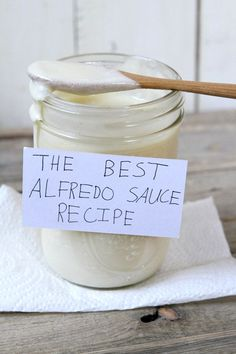 Best Alfredo Sauce Recipe from RecipeBoy.com