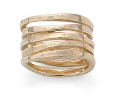 Stacked Hammered Ring: James Avery