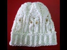 How to Loom Knit an Owl Hat Round Loom Knitting, Loom Knitting Projects, Loom Knitting Patterns, Crochet Patterns, Knitting Looms, Knitting Videos, Loom Crochet, Loom Knit Hat, Crochet Video