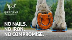The world's first CLIPPABLE RUNNERS for HORSES, using our patent pending Mega-Lock Fastener Technology.