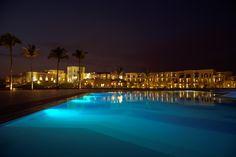 Swimming pool view at night @salalahrotana  #SRRPinToWin