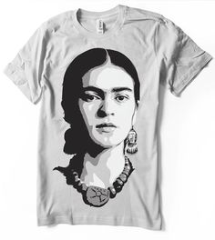 Frida Kahlo t-shirt airbrushed with stencils unisex mens