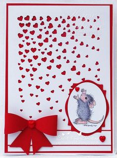 Spellbinders Cascading Hearts -  Nanaseaside: Love is all around @ HMFMC#212