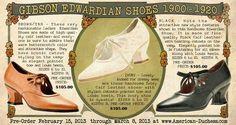 Maravillosos zapatos para volver al S.XX. De www.American-duchess.com Edwardian Shoes, 1920s Shoes, Victorian Shoes, Vintage Shoes, Vintage Outfits, Vintage Fashion, Vintage Clothing, Vintage Ads, Vintage Style