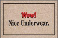 Wow! Nice Underwear Doormat. $19.99 Only.