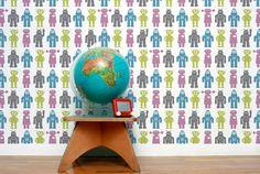 retor wall paper