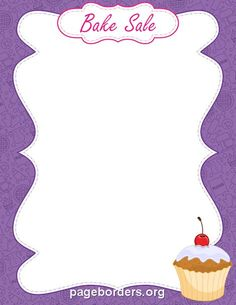 Free bake sale border templates including printable border paper and clip art versions. File formats include GIF, JPG, PDF, and PNG. Vector images are also available. Bake Sale Poster, Bake Sale Sign, Bake Sale Flyer, For Sale Sign, Free Flyer Design, Flyer Free, Templates Printable Free, Flyer Template, Printables