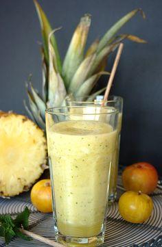 Cinco Quartos de Laranja: Sumo de ameixa com abacaxi