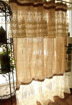 Layered SHABBY Washed Rustic Chic Burlap By BetterhomeLiving
