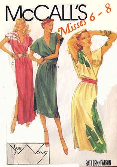 VINTAGE SUMMER DRESS    Sewing Pattern  Two Lengths  by BunnysLuck, $8.00